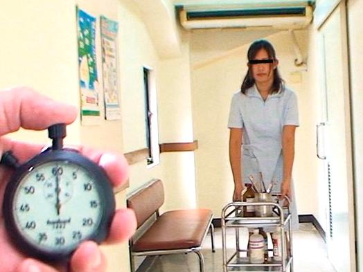 《時間停止》不思議な能力者の力で病院内を完全停止させて可愛いナース達を好き放題にイタズラ!脱がせておっぱいを揉みまくる!